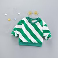 Fashionable Color Blocked Striped Long-sleeve Pullover for Baby Boy