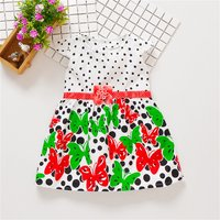 Baby/ Toddler Girl's Butterfly Polka Dots Dress