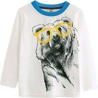 Trendy Bear Print Long-sleeve T-shirt for Baby Boy