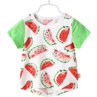 Cute Watermelon Print Short-sleeve T-shirt for Baby and Toddler Boy
