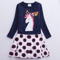 Toddler Girl's Unicorn Pattern Dress
