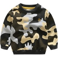 Trendy Cool Camouflage Long-sleeve Pullover for Boys