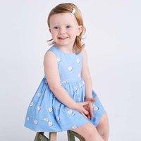 Baby Girl's Pretty Pearl Printed Sleeveless Dress