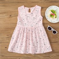 Pretty Summer Floral Sundress for Toddler Girl and Girl