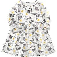 Stylish Dinosaur and Star Print Long-sleeve Dress for Toddler Girl and Girl