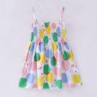 Fashionable Fruit Pattern Slip Dress for Toddler Girl and Girl
