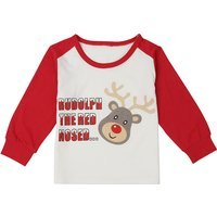Christmas Deer Print Long Sleeves Top for Toddlers