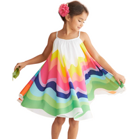 Colorful Rainbow Sleeveless Dress for Baby and Toddler Girls
