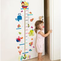 Removable Sea Animal Height Chart Wall Sticker