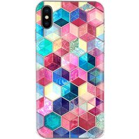 1 Pcs Creative Colorful Plaid iPhone Fitted Case