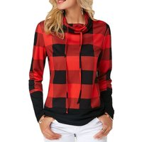 Sassy Plaid Contrast Top