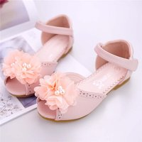 Pretty 3D Mesh Flower Decor Sandals for Girls