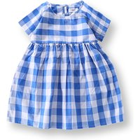 Charming Plaid Short-sleeve Dress for Baby Girl