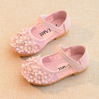 Pretty Flower Appliqued Hollow out Flats for Toddler Girl