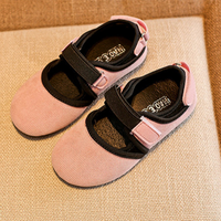 Chic Solid Antiskid Velcro Flats for Toddler Girls and Girls