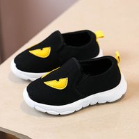 Cool Appliqued Slip-on Canvas Shoes for Toddlers