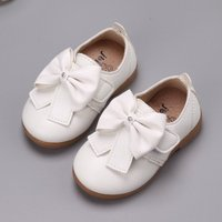 Sweet Bowknot Leather Shoes for Toddler Girl