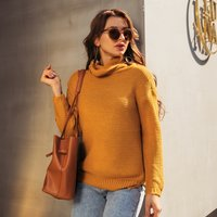 Elegant Solid Long-sleeve Pullover
