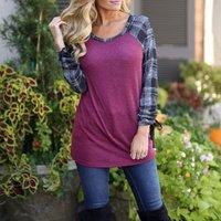 Sassy Plaid Contrast Long-sleeve Top