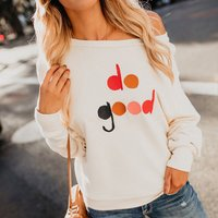Pretty Off Shoulder Long-sleeve Tee