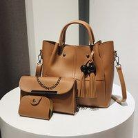 Trendy Tasseled Bags and Wallet Set
