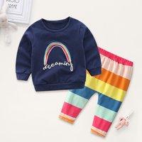 Dreaming Rainbow Striped Set