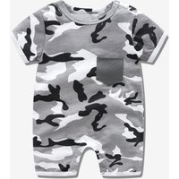 Camouflage Jumpsuit with Pocket