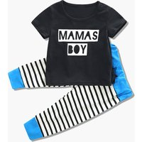 Mama's Boy Tee and Striped Pants Set