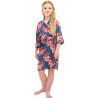 Pretty Floral Kimono Dressing Gown for Girl