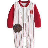 Trendy Baseball Design Striped Long-sleeve Jumpsuit for Baby Boy