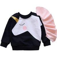 Lovely Long-sleeve Unicorn Top for Toddler Girl