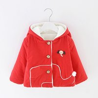 Super Cute Elephant Applique Long-sleeve Coat for Baby