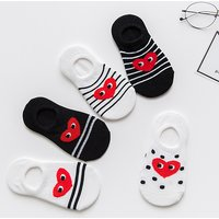 5-pair Heart Print Socks for Toddler Girl and Girl