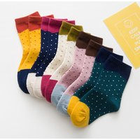 5-pair Comfy Polka Dots Socks for Baby Girl and Girl