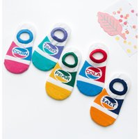 5-piece Comfy Color Blocked Socks for Girls and Boys