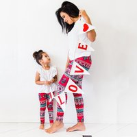 Pretty Floral Matching Leggings for Mommy and Me