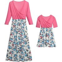 Mommy and Me Chic V-neck Matching Dress
