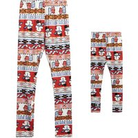 Allover Printed Matching Leggings for Mommy and Me