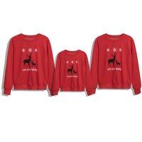 Family Matching Deer Printed Long-sleeve Tee