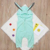 Stylish Ear Design Sleeveless Hooded Jumpsuit for Baby Girl