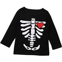 Stylish Bone and Heart Print Long-sleeve Top for Toddler Girl