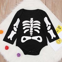 Stylish Halloween Patterned Long-sleeve Romper for Baby
