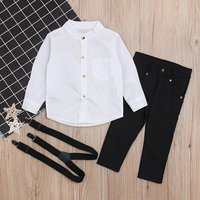 2-piece Super Casual Long-sleeve Top and Pants Set for Baby