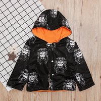 Cute Lion Pattern Fleece-lining Hooded Jacket