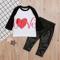 Baby's Heart Letter Top and Pants