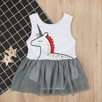 Baby/ Toddler Girl's Unicorn Pattern Tulle Dress