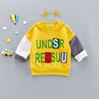 Trendy Letter Print Long-sleeve Pullover for Baby