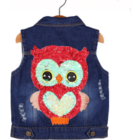 Cool Front Pockets Sleeveless Denim Jacket for Toddlers