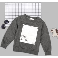Casual Letter Print Long-sleeve Top for Baby and Kid