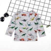 Casual Allover Dino Long-sleeve Top for Baby and Toddler